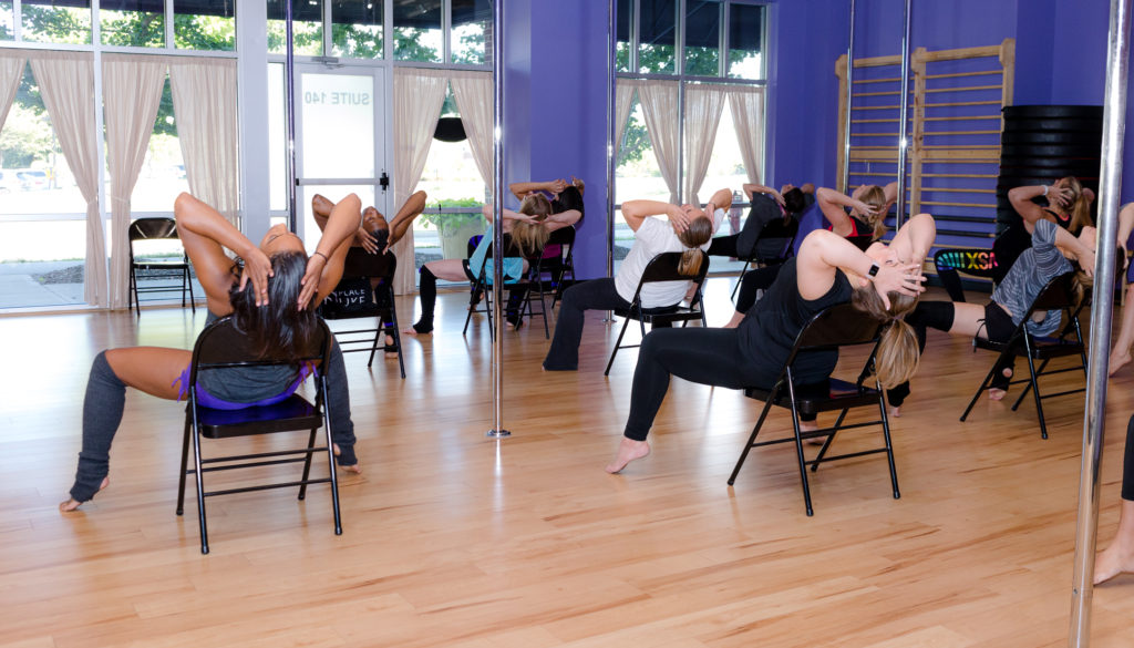 Chair Dance at Chrome Fitness